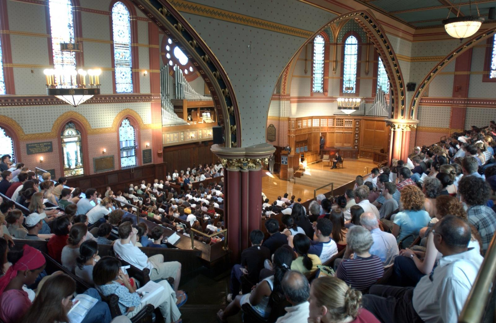 Interior view of Battell Chapel