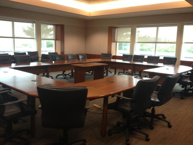 Boardroom style meeting rooms